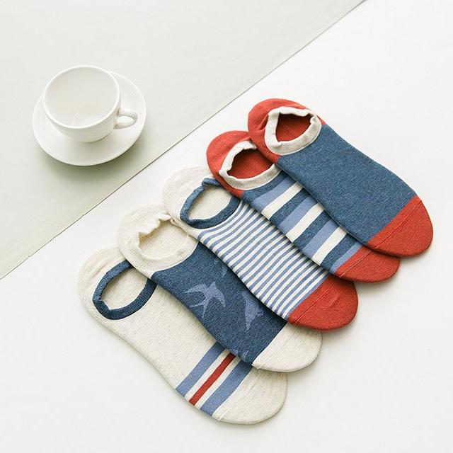 Men's Cotton Invisible Ankle Socks