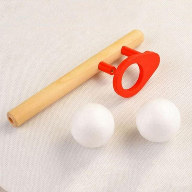 Balancing Blowing Wooden Toy