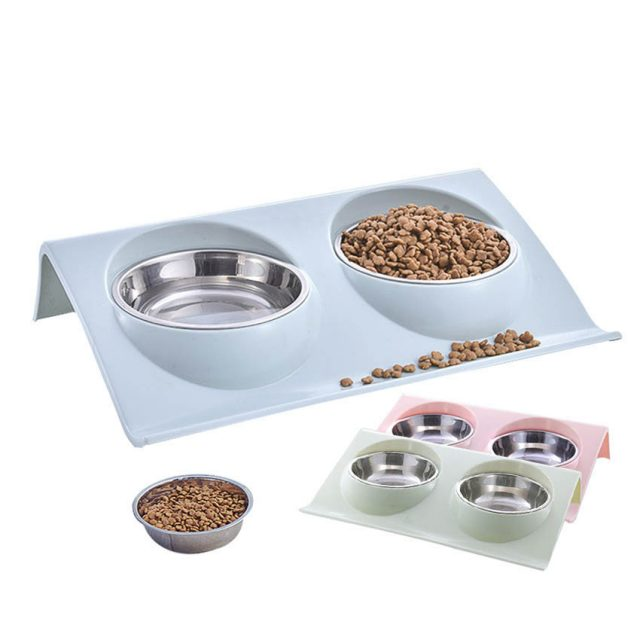 Stainless Steel Double Dog Bowls