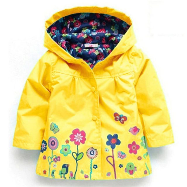 Girl's Bright Floral Nylon Jacket