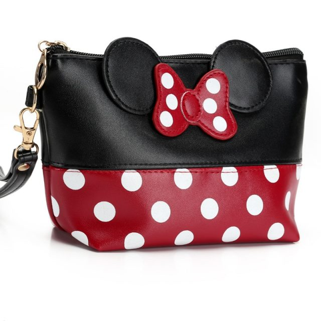 Minnie Mouse Themed Polka Dot Cosmetic Bag